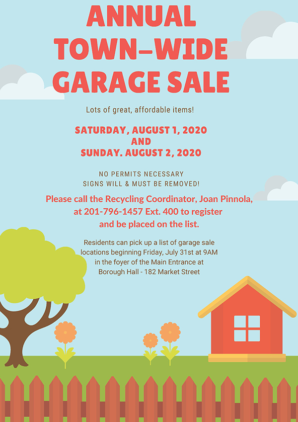 2020 Garage Sale flyer