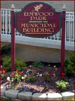 sign outside of Elmwood Park municipal building